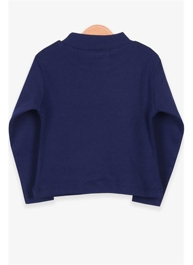 Breeze Kız Çocuk Uzun Kollu Tişört Basic Lacivert  Lacivert